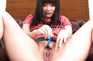Hina Maeda in her apartment undressing out of her panties.