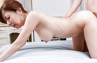 Chihiro Akino loves touching her big melons and pussy